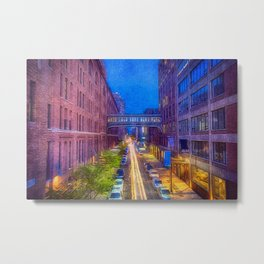 High Line Park Light Trails Metal Print
