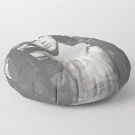 Black and White SEBASTIAN STAN #5 Floor Pillow