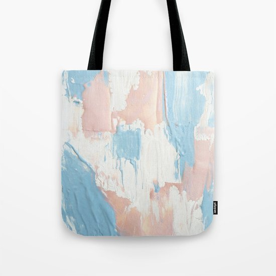 Pink and Blue Abstract Tote Bag