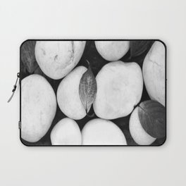 Zen White Stones On A Black Background #decor #society6 #buyart Laptop Sleeve