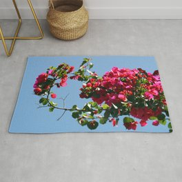 Spring is knocking on the door Rug