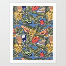 El Cochinito Wallpaper Art Print