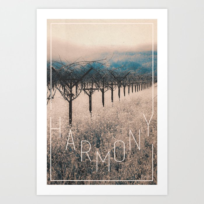 Winter Vineyard II - Nature's Orchestra Art Print