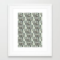 mod Framed Art Prints featuring mod by kociara