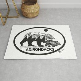 """""""Adirondack Mama""""  Baby Bear Cub, Adirondacks, ADK, Black Bear Art, Bears Decor Wall Art Rug"""
