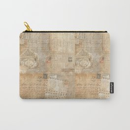 Vintage French Script & Letters Carry-All Pouch