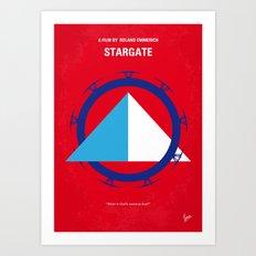 No644 My STARGATE minimal movie poster Art Print