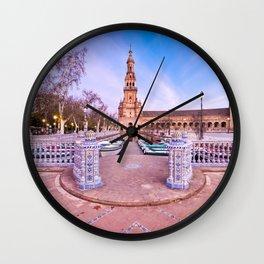 Plaza de España, Sevilla, Spain 2 Wall Clock