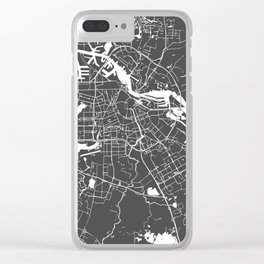 Amsterdam Gray on White Street Map Clear iPhone Case