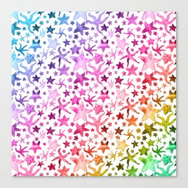 Rainbow Starfish Pattern Canvas Print