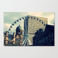 manchester Canvas Prints featuring Manchester by JTRumley
