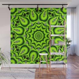 Spring Garden Mandala, Abstract Star Burst Delightful Spirals Wall Mural