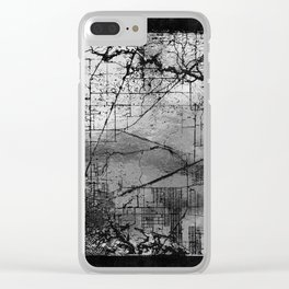 Old Metal Map Clear iPhone Case