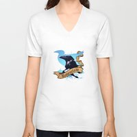 ravenclaw V-neck T-shirts featuring Ravenclaw by Markusian