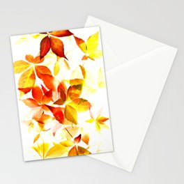 Virginia Creeper abstract Stationery Cards