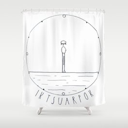 Simple time drawing Shower Curtain