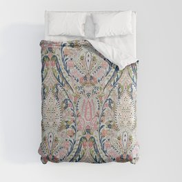 Pink Blue Green Leaf Flower Paisley Comforters