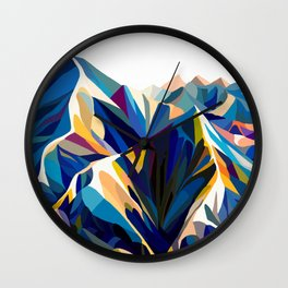 Mountains cold Wall Clock