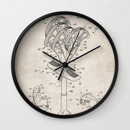 Climbing Anchor Patent - Rock Climber Art - Antique Wall Clock