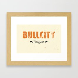 Bull City Framed Art Print