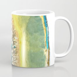 Blue and Yellow Agate Coffee Mug