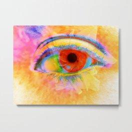 Eye In Bloom Metal Print