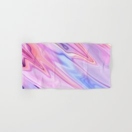 Colorful flowing marble swirls background Hand & Bath Towel