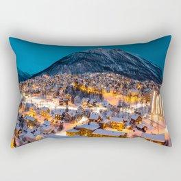 Midnight in Norway Rectangular Pillow