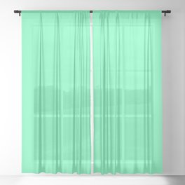 Spring - Pastel - Easter Green Solid Color 3 Sheer Curtain