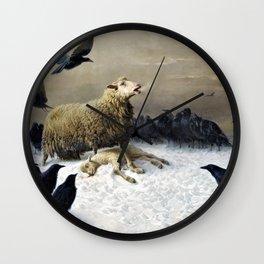 Anguish - August Friedrich Albrecht Schenck Wall Clock