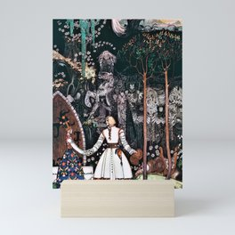 12,000pixel-500dpi - Kay Nielsen - The Youngest Prince Who Defeats A Giant With A Beautiful Princess Mini Art Print
