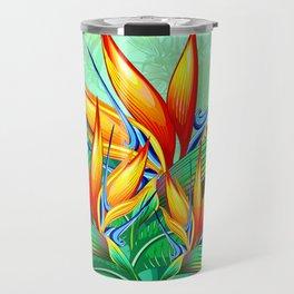 Bird of Paradise Flower Exotic Nature Travel Mug