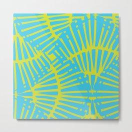 Basketweave-Tropic Metal Print