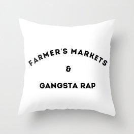 Farmer's Markets & Gangsta Rap Throw Pillow