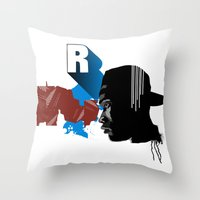rap Throw Pillows featuring Rap by David Navascues