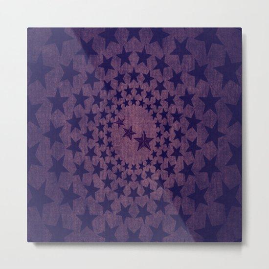 Purple stars decorative pattern Metal Print