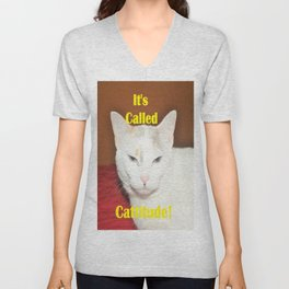 It's Called Cattitude Unisex V-Neck