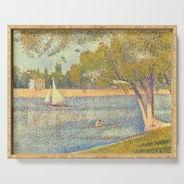 "Georges Seurat ""The Seine at La Grande Jatte"" Serving Tray"