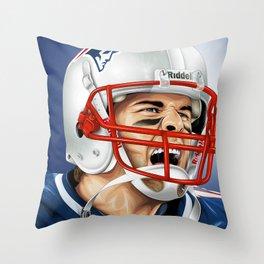 TOM BRADY / THE GOAT Throw Pillow