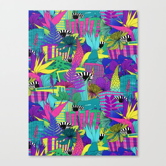 the city is a jungle Canvas Print