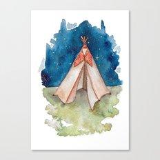 Tiny Teepee Canvas Print