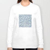 whale Long Sleeve T-shirts featuring Whale, Sperm Whale by Elena O'Neill
