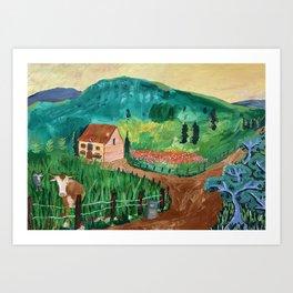 Camino Morning Art Print