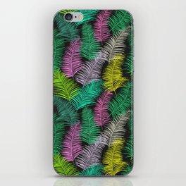 Palm Leaves Dark Smaller iPhone Skin