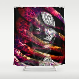 Trapped in turmoil of thoughts Shower Curtain