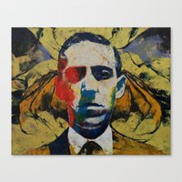 lovecraft Canvas Prints featuring Lovecraft by Michael Creese