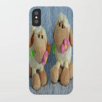 silence of the lambs iPhone & iPod Cases featuring Little Lambs by Frankie Cat