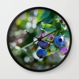 Blueberry Farm Wall Clock