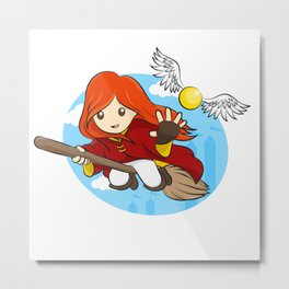 HP - Snitch Catcher - Ginger girl Metal Print