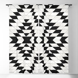 Urban Tribal Pattern No.15 - Aztec - White Concrete Blackout Curtain